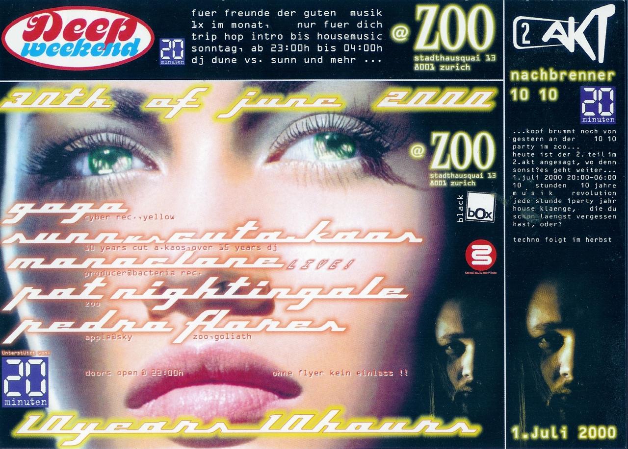 10 Years DJ Cut a. Kaos | Zoo Club (ZH)
