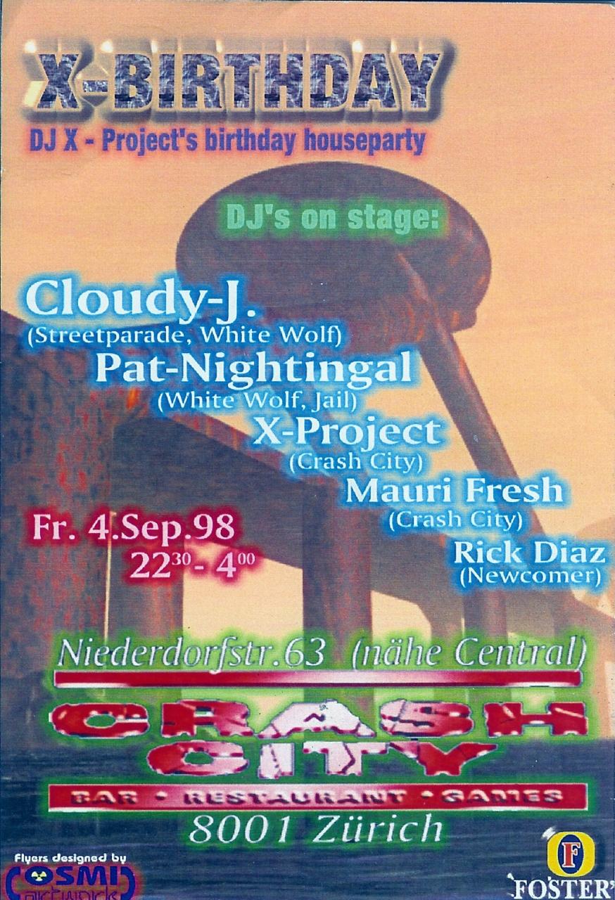 dj x-project birthday_4.9.1998