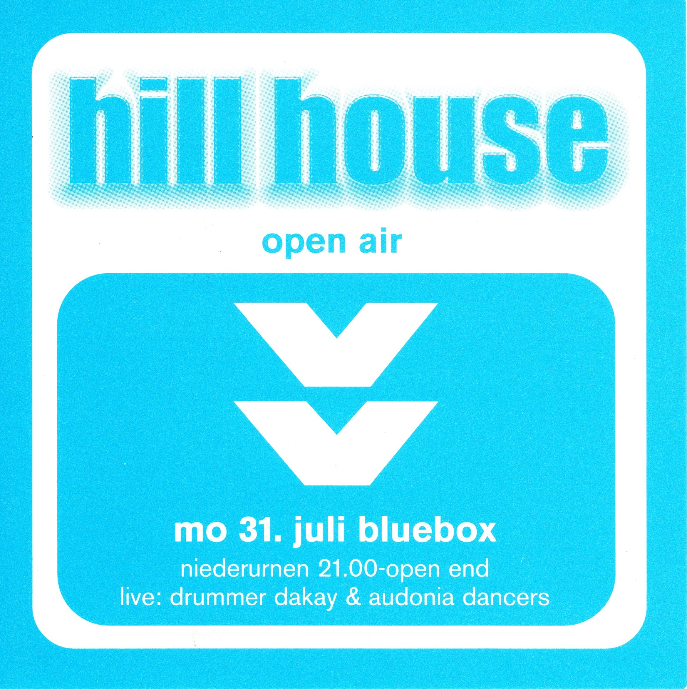 Hill House mit Pat Nightingale | Blue Box Niederurnen (GL) > Montag 31.07.2000