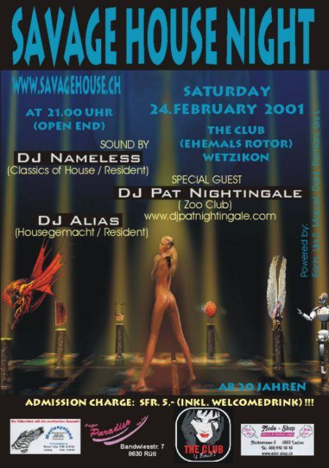Savage House Night | The Club Wetzikon (ZH)