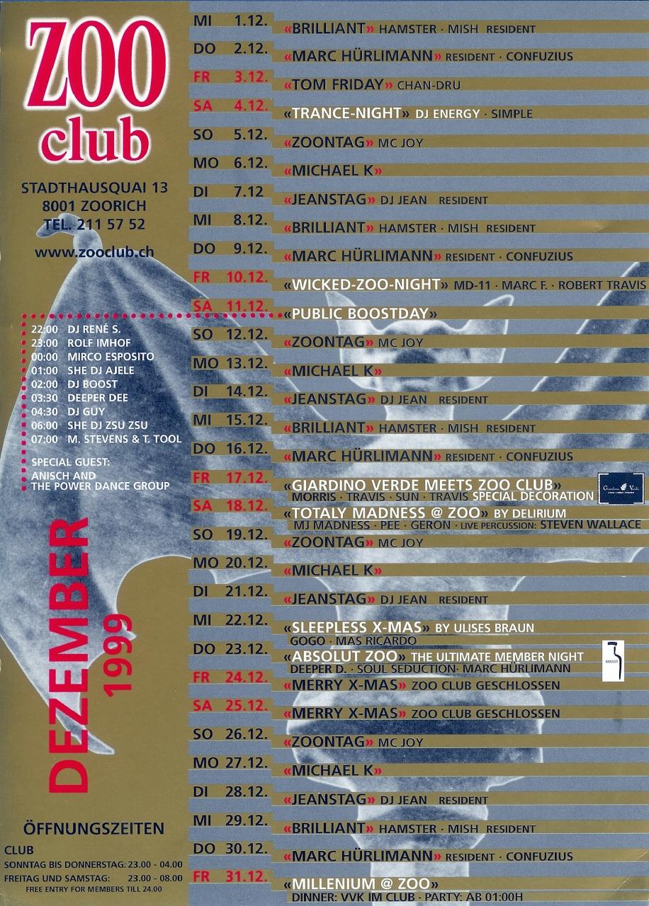Thursday Resident Dj | Zoo Club (ZH)