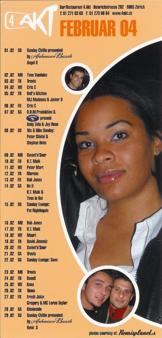 Monatsprogramm Februar 2004 | 4 Akt ZH