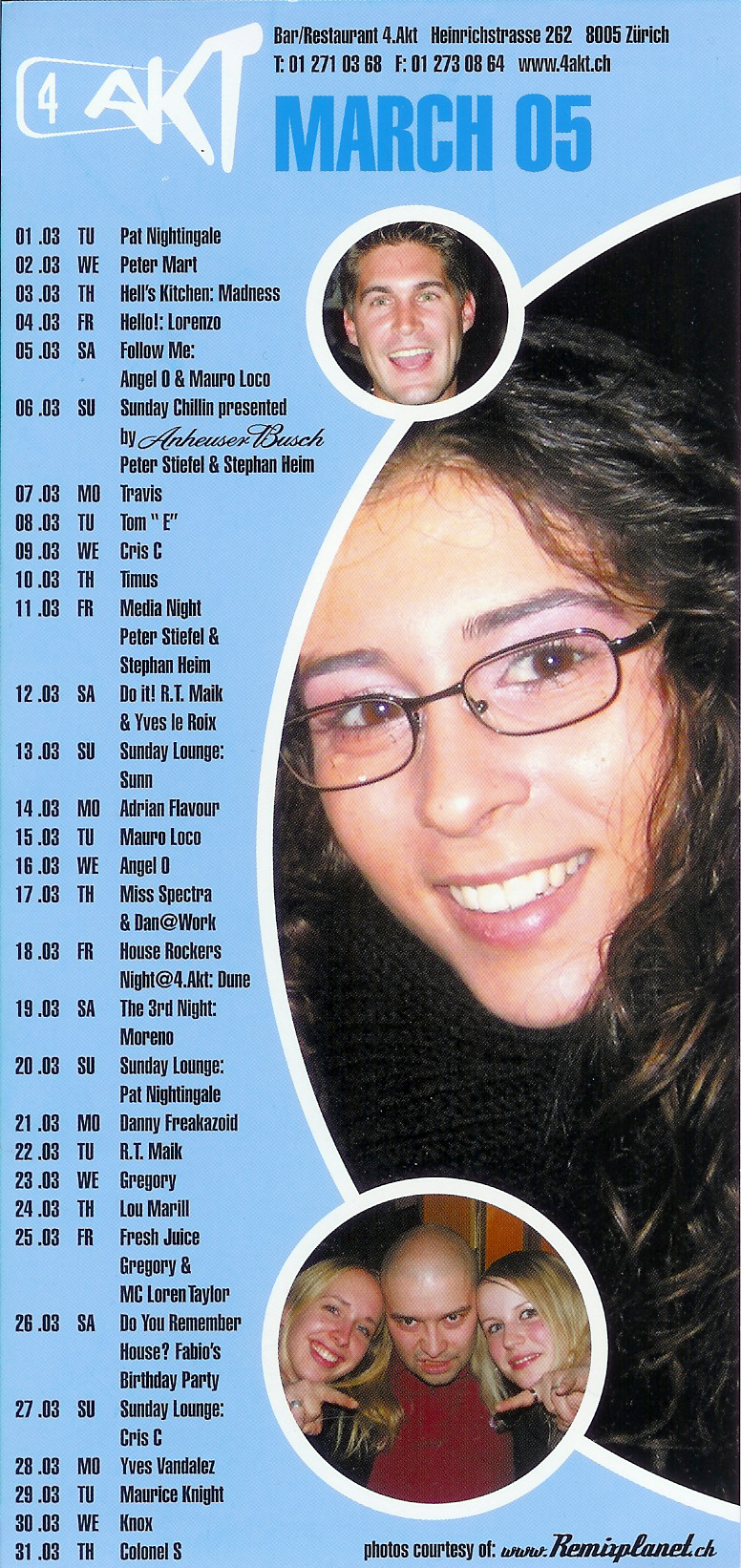 Monatsprogramm März 2005 | 4 Akt ZH