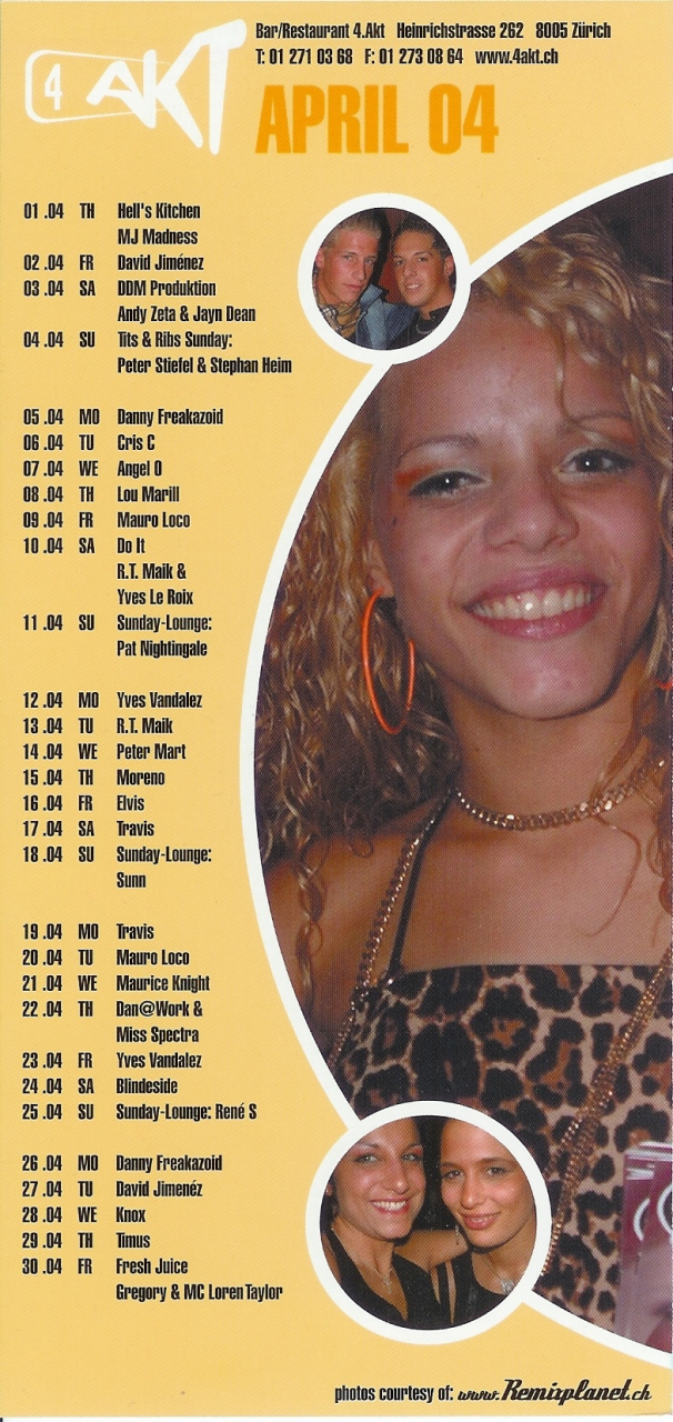 Monatsprogramm April 2004 | 4 Akt ZH