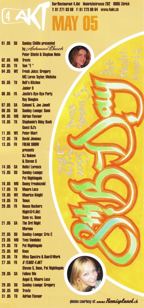 Monatsprogramm Mai 2005 | 4 Akt ZH