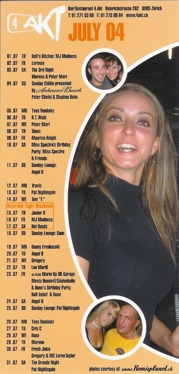Monatsprogramm Juli 2004 | 4 Akt (ZH)