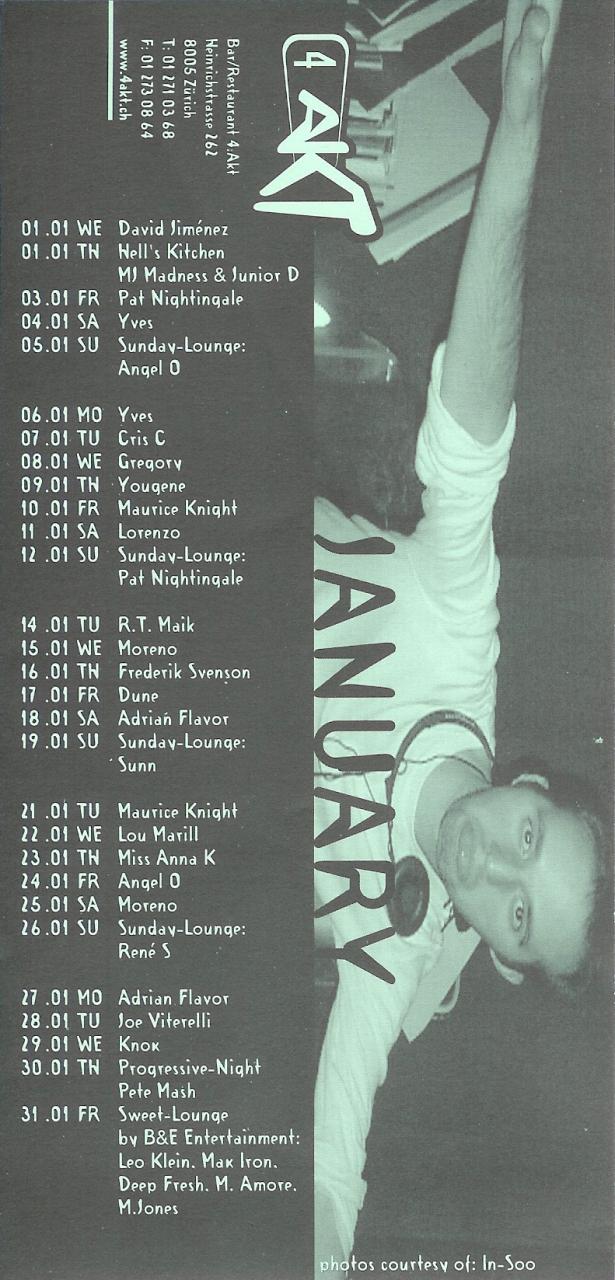 Monatsprogramm Januar 2003 | 4 Akt (ZH)