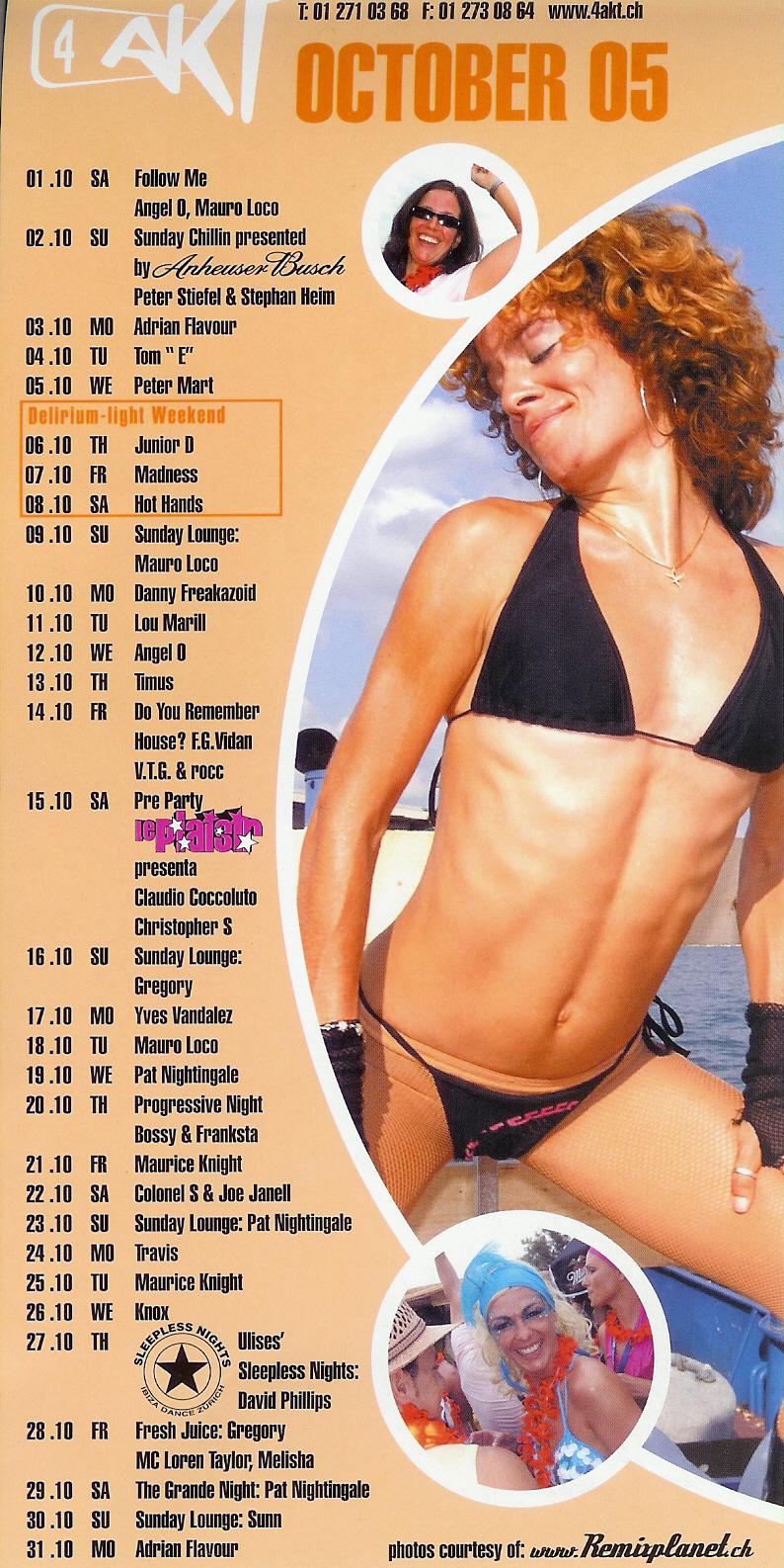 Monatsprogramm Oktober 2005 | 4 Akt (ZH)