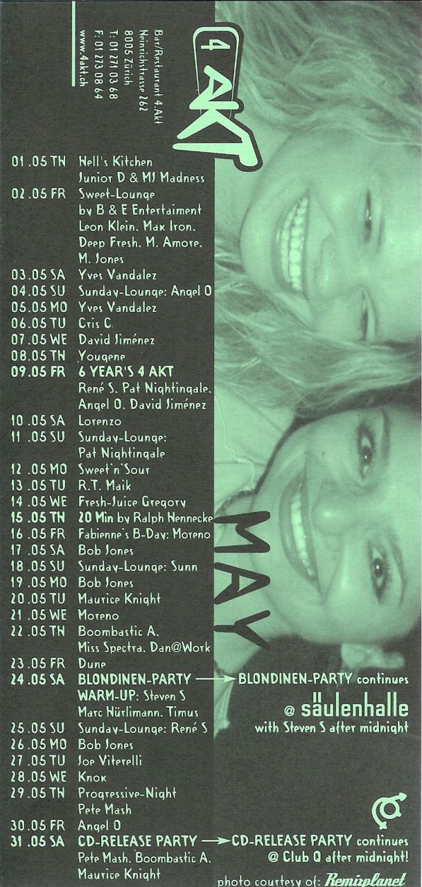 Monatsprogramm Mai 2003 | 4 Akt (ZH)
