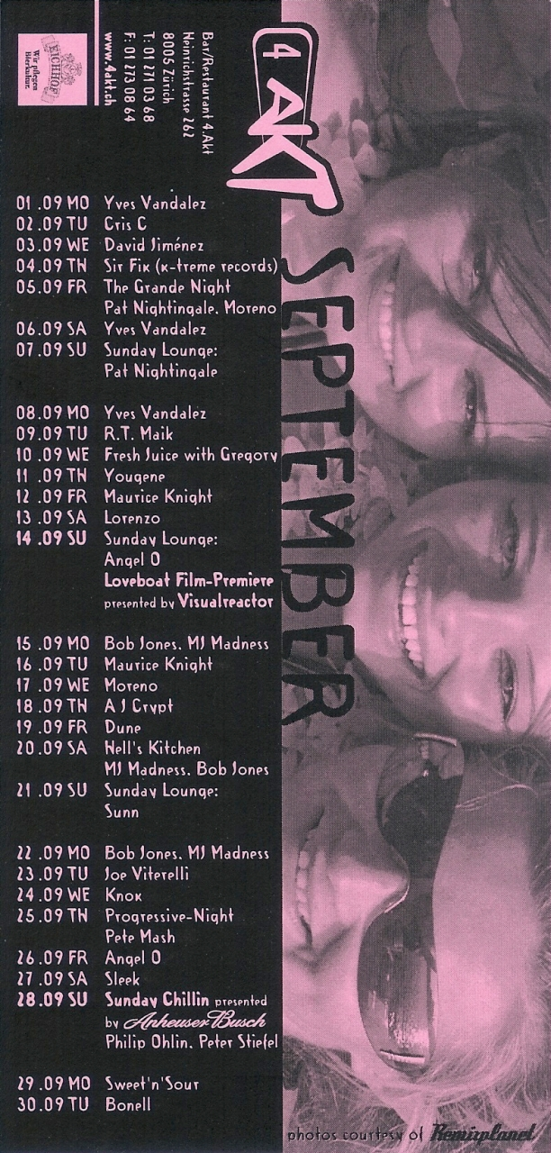 Monatsprogramm September 2003 | 4 Akt (ZH)