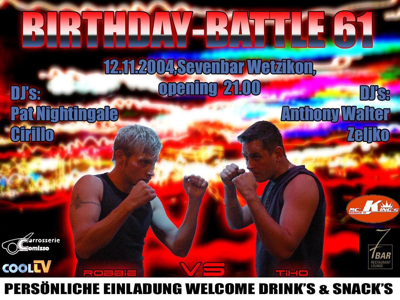 Birthday Battle | Sevenbar Wetzikon (ZH)