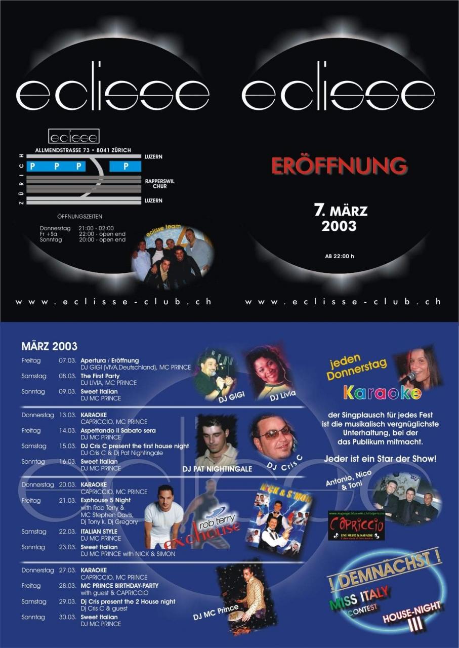 eclisse club 15.3.2003