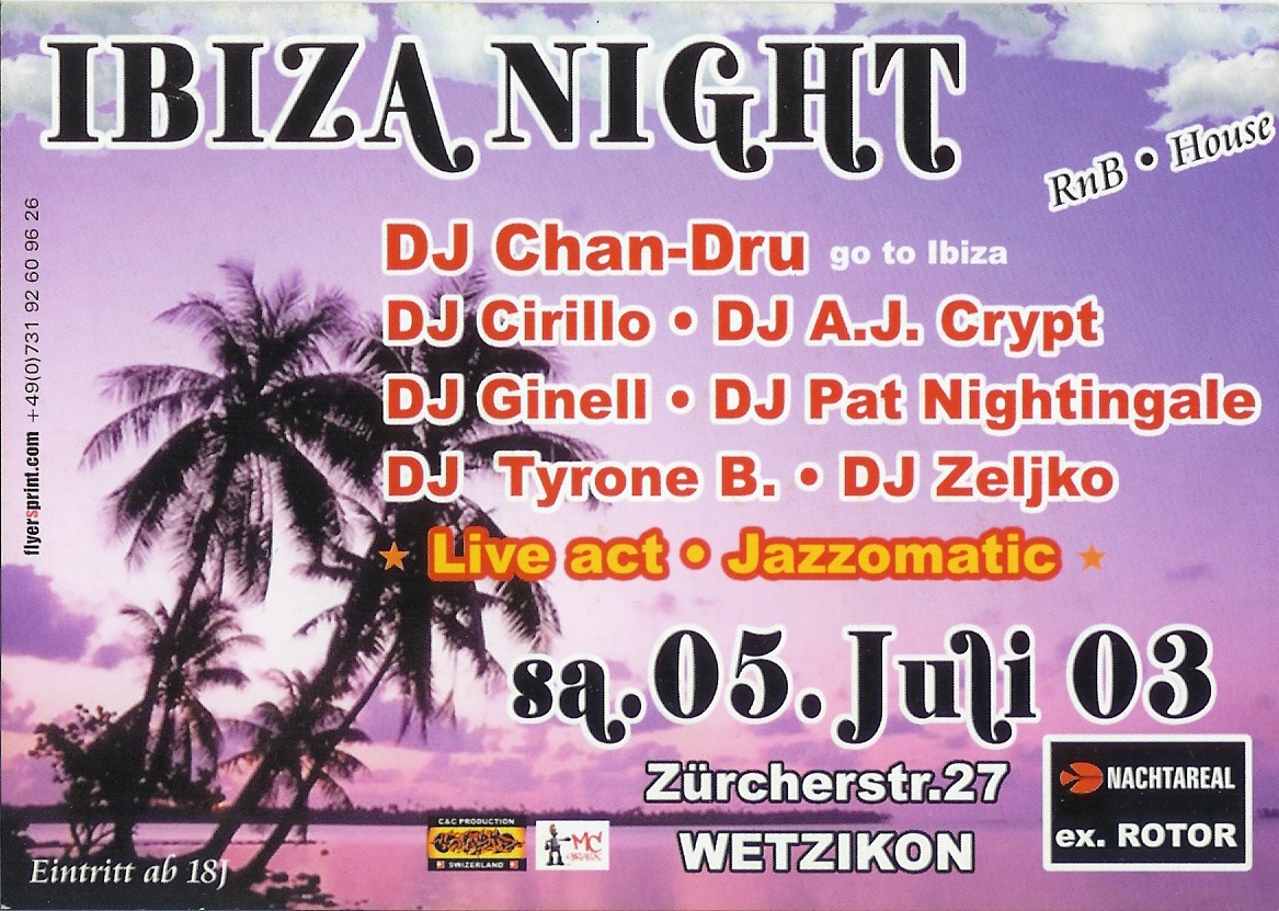 Ibiza Night | Nachtareal Wetzikon (ZH)