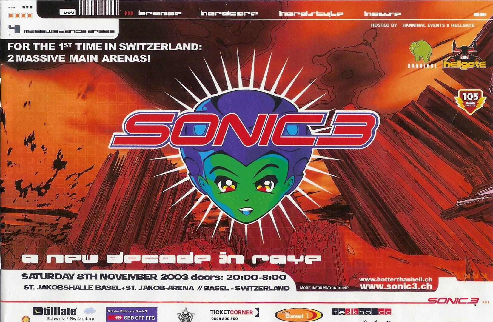 Sonic 3 mit Pat Nightingale | ST. Jakobshalle Basel > Samstag 08.11.2003