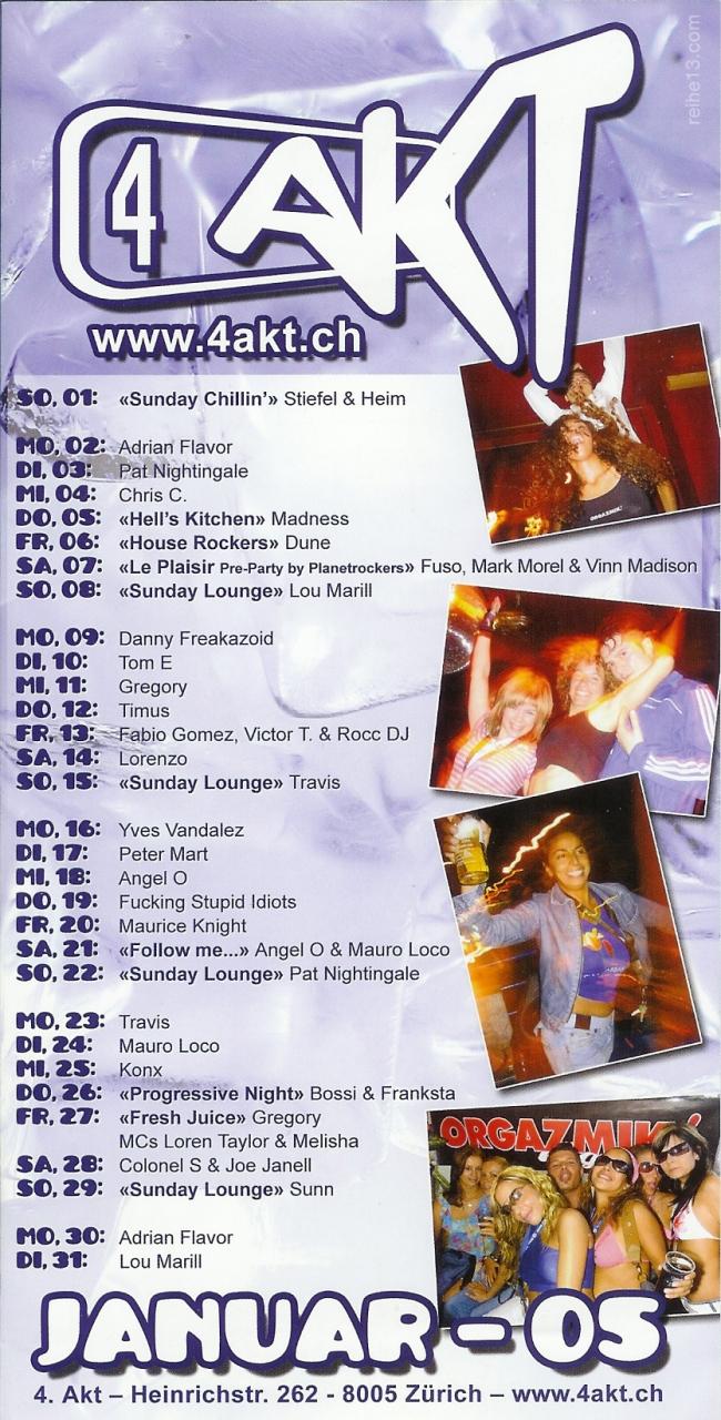 Monatsprogramm Januar 2006 | 4 Akt (ZH)