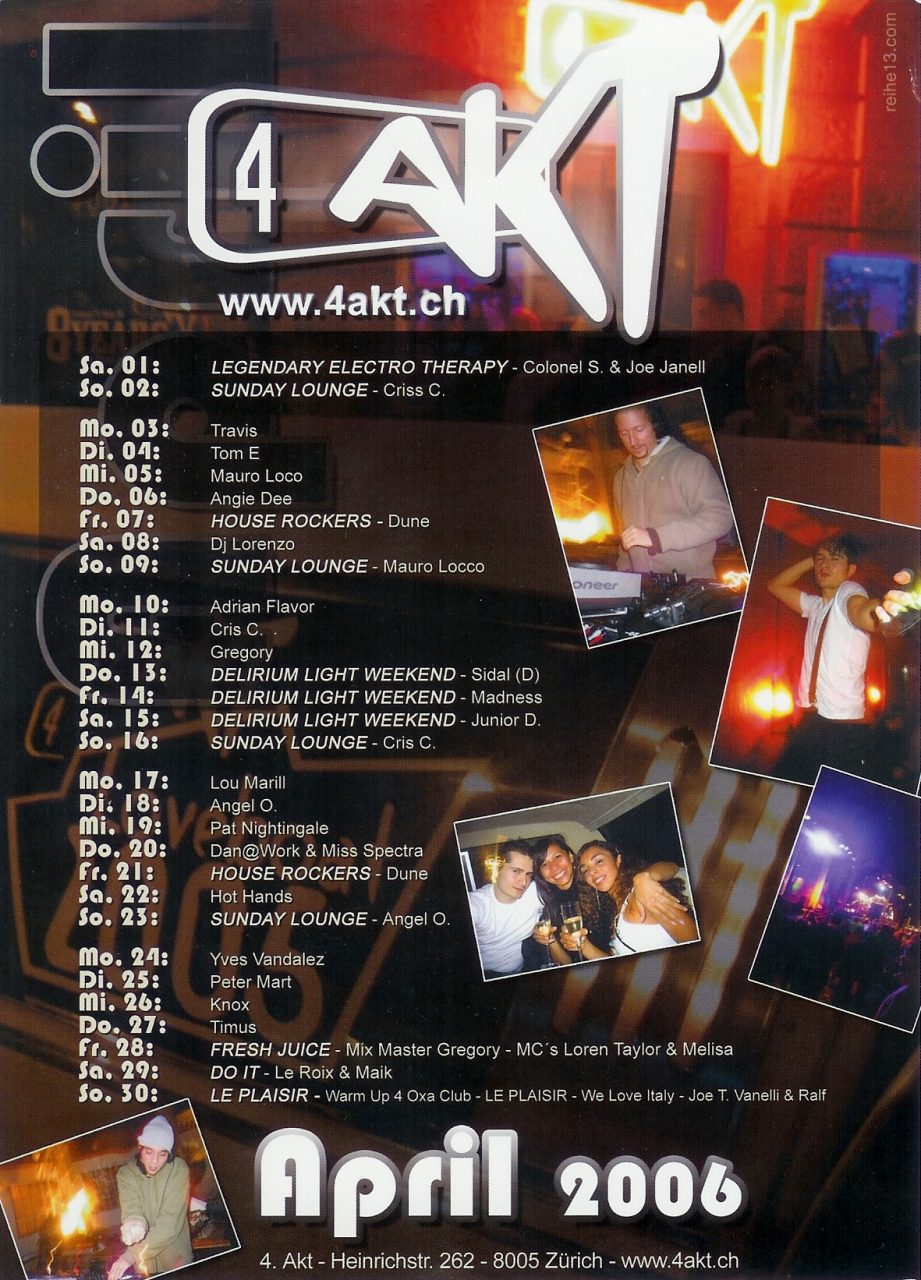 Monatsprogramm April 2006 | 4 Akt ZH