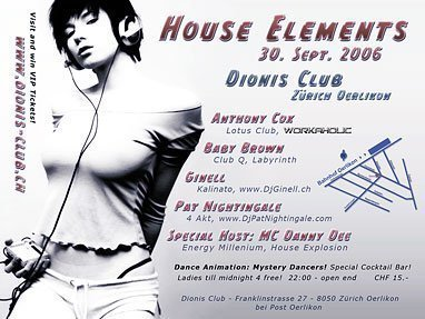 House Elements | Dionis Club Zürich
