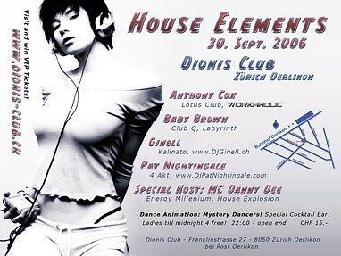 House Elements | Dionis Club Zürich