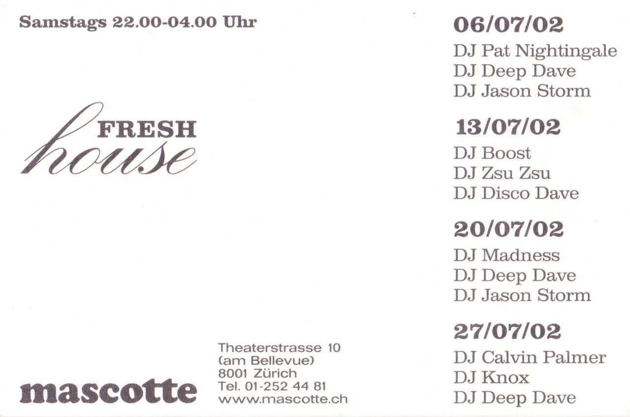 Fresh House | Mascotte (ZH)