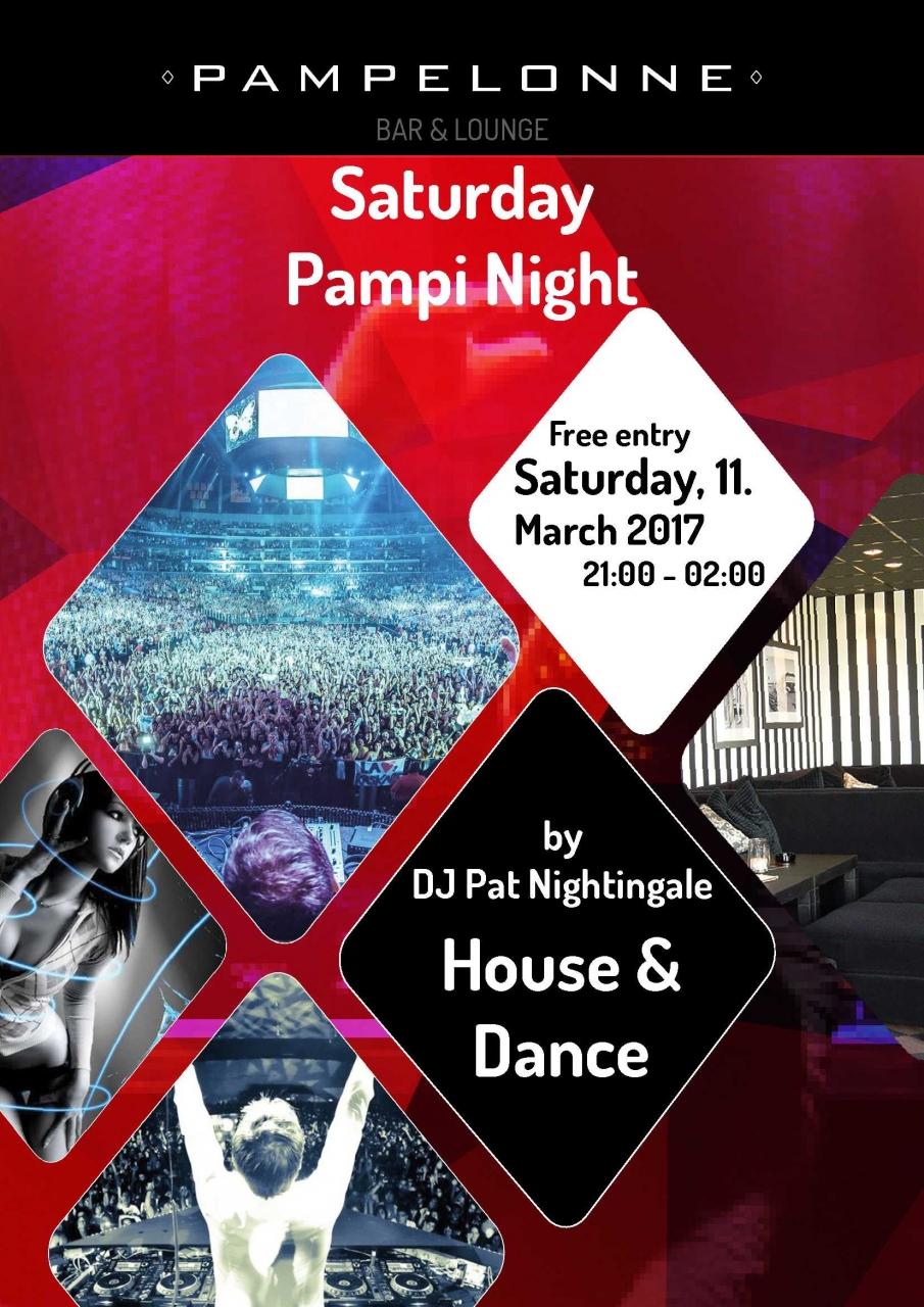 House&Dance Night mit Dj Pat Nightingale | Pampelonne (ZH) > Samstag 11.03.2017