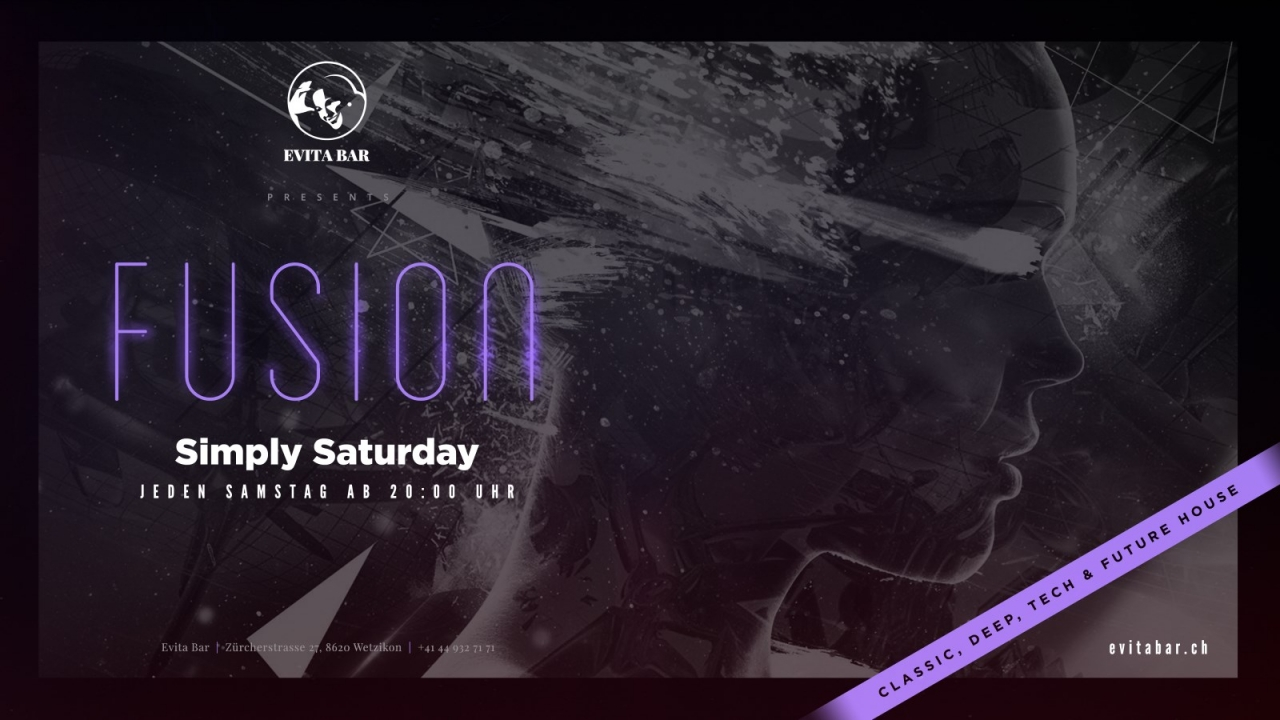 Fusion mit Dj Pat Nightingale | Evita Bar Wetzikon (ZH) > Samstag 13.01.2018 | Fusion
