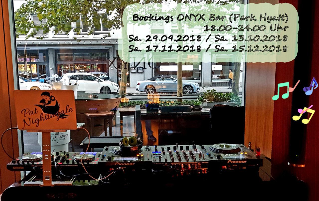 ONYX Bookings 2018